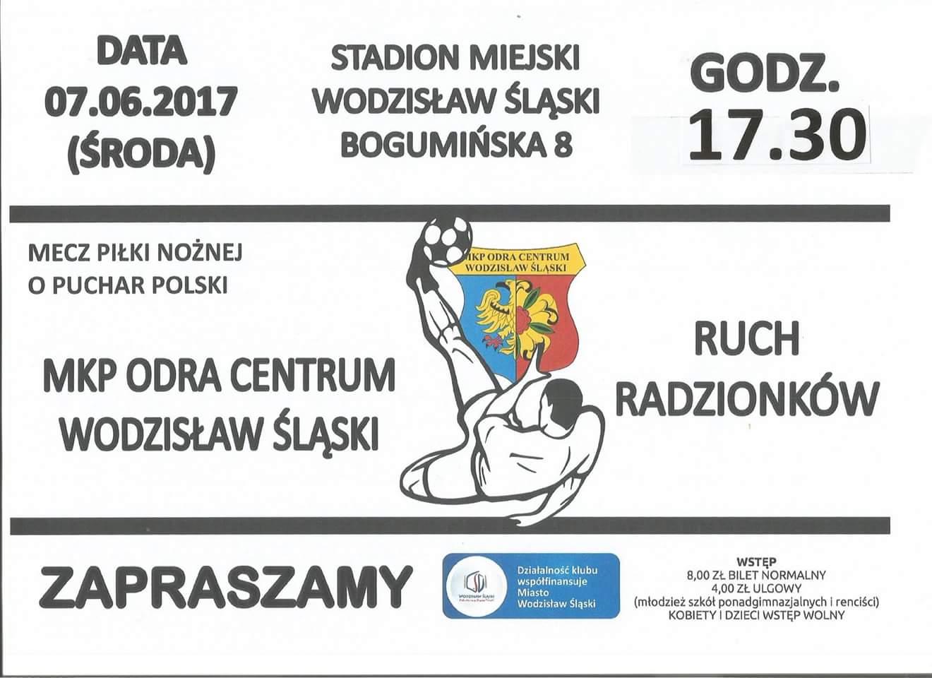Zaproszenie Na Puchar Polski Mkp Odra Centrum